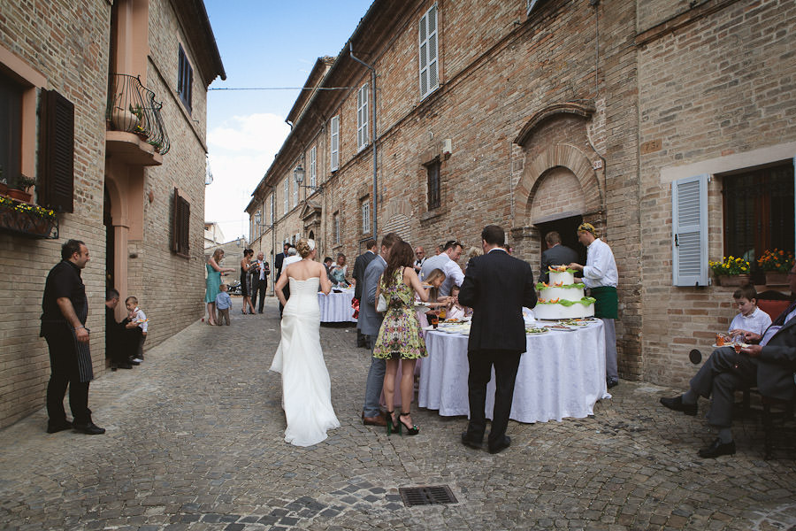 Italy wedding reception