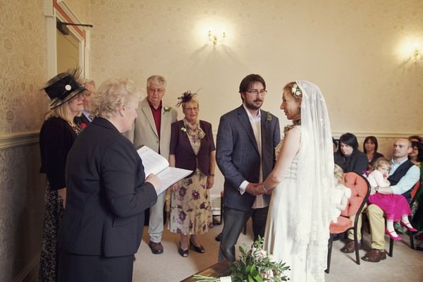 Louth registry office wedding ceremony