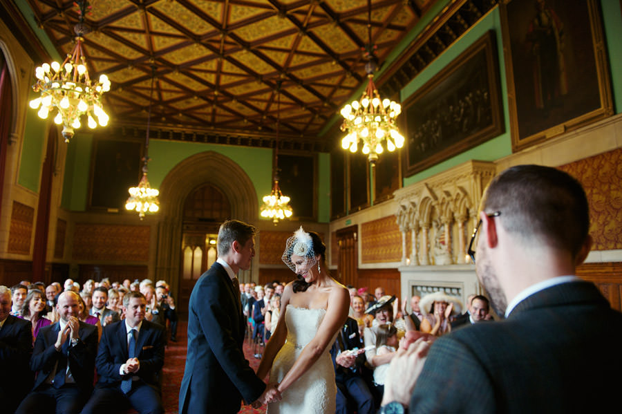 Manchester town hall wedding ceremony