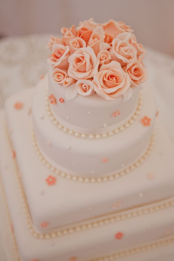 peach and white wedding cake and white wedding cake boho weddings for the boho 18136