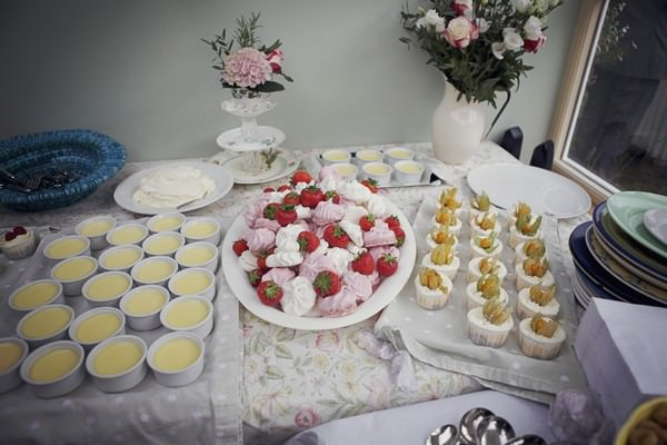 English tea part wedding food