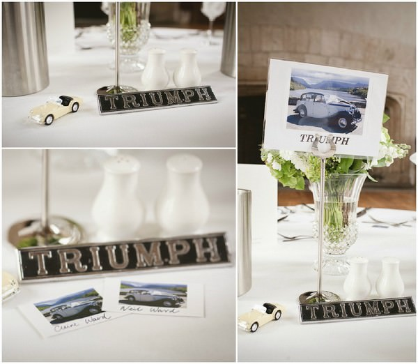 car themed table names
