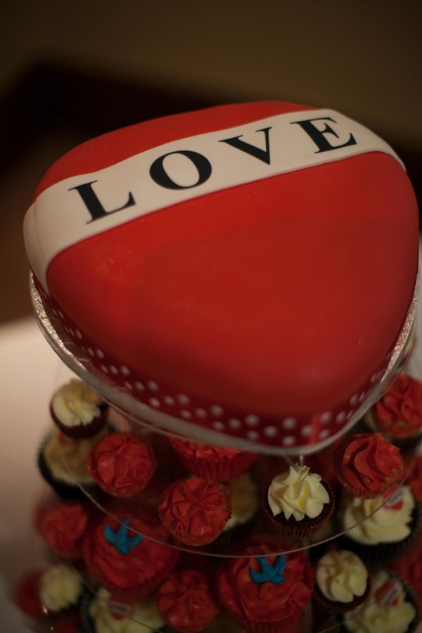 red and black wedding cup cakes