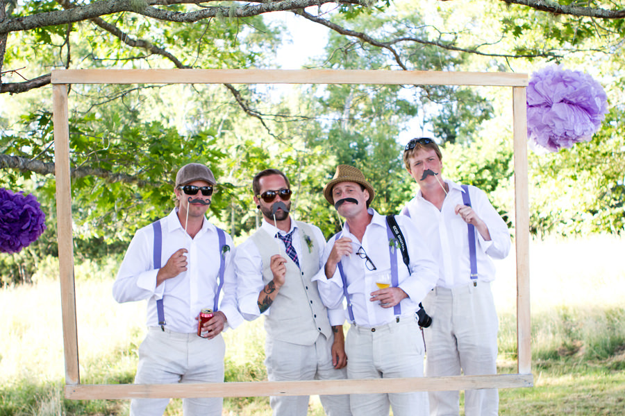 rustic photo booth
