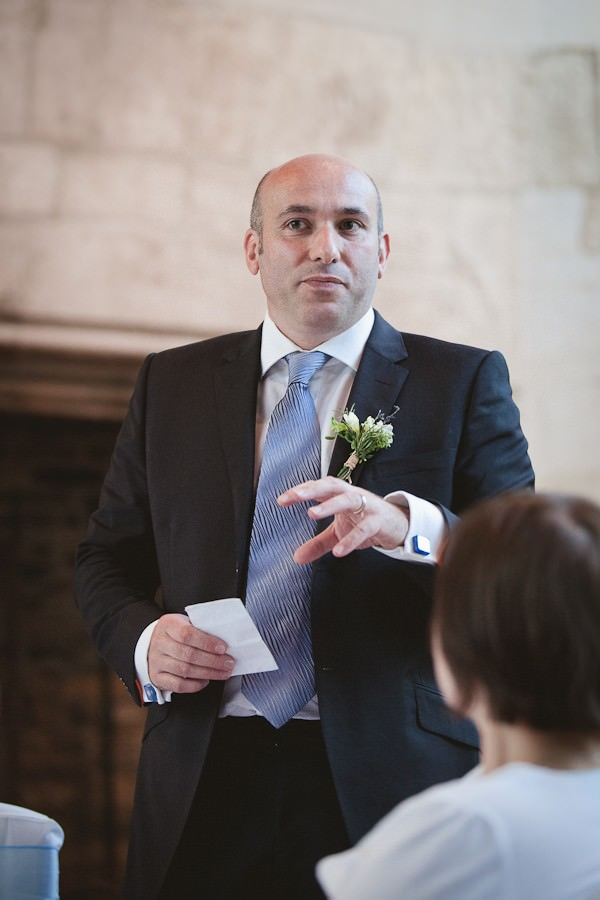 speeches at a south Devon wedding