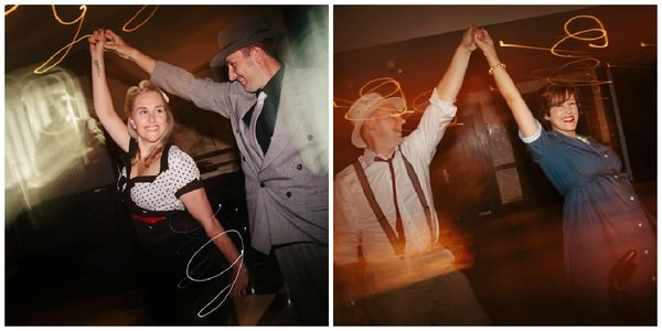 Rockabilly dancing at a rockabilly wedding
