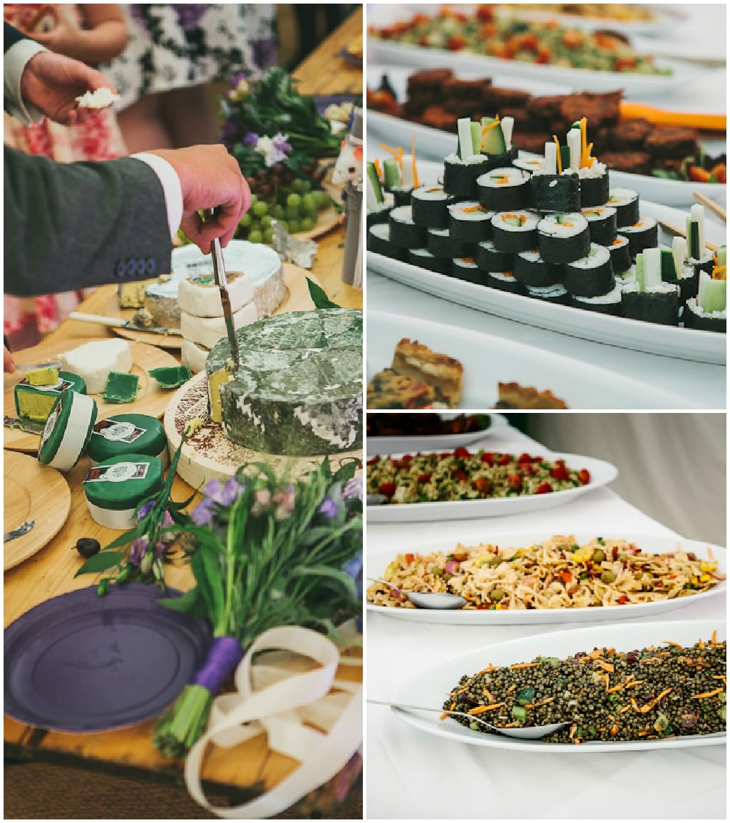 Vegan Wedding Food: Jo And Ian's Back To Nature Vegetarian Wedding By Mark