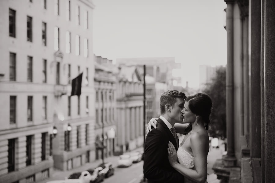Modern Manchester wedding couple