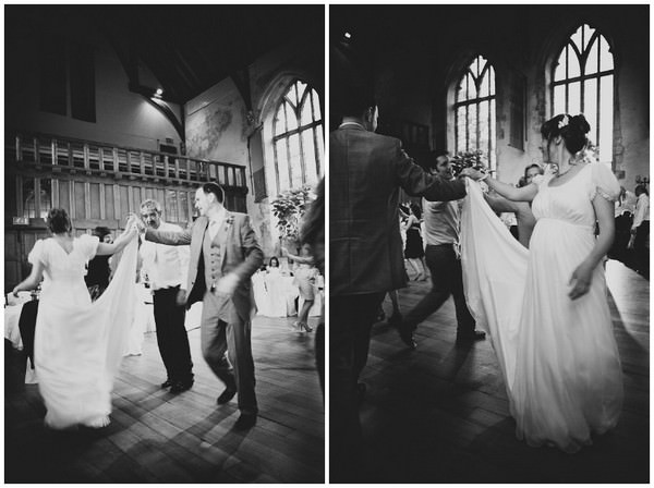 dancing at a south Devon wedding