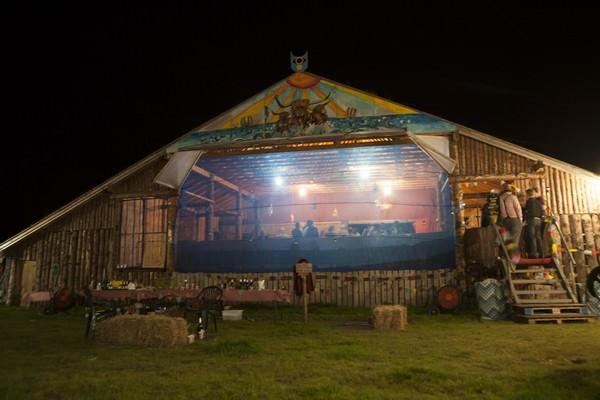 cow shed wedding reception