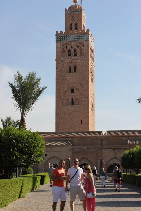 the Katoubia Mosque in Marrakesh