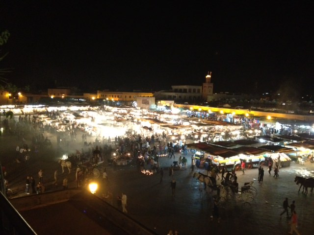 evening at the Djemaa el Fna Square Marrakesh