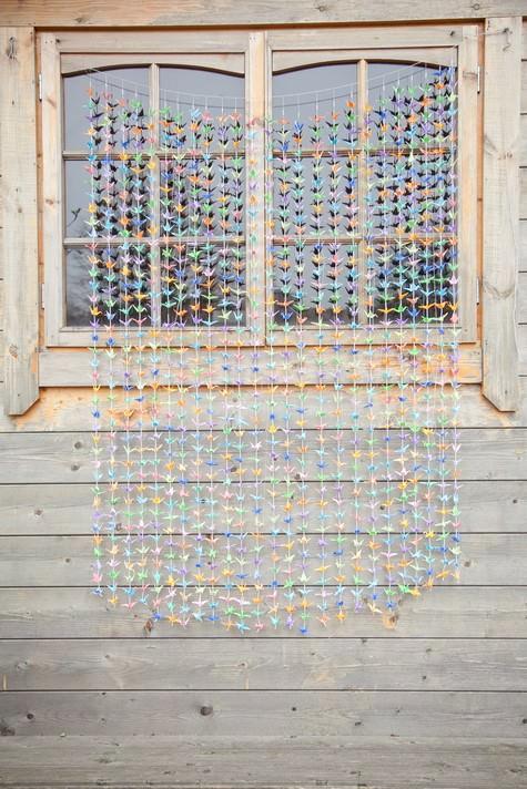 1000 paper cranes backdrop