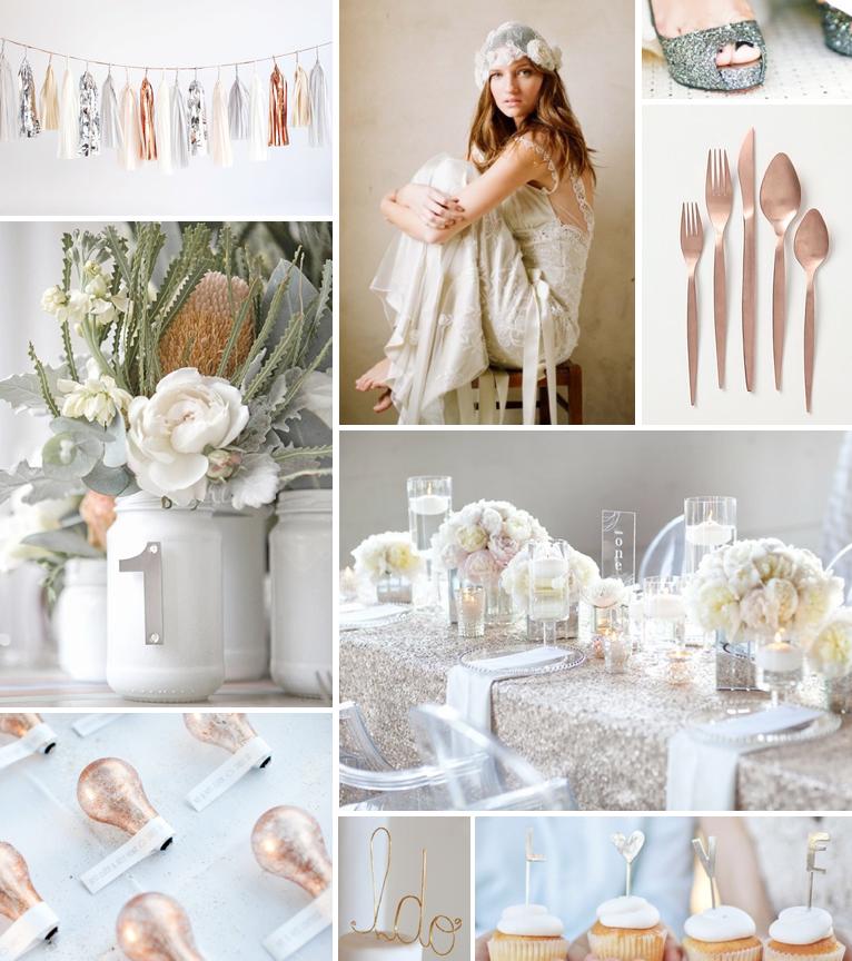 modern glam wedding inspiration