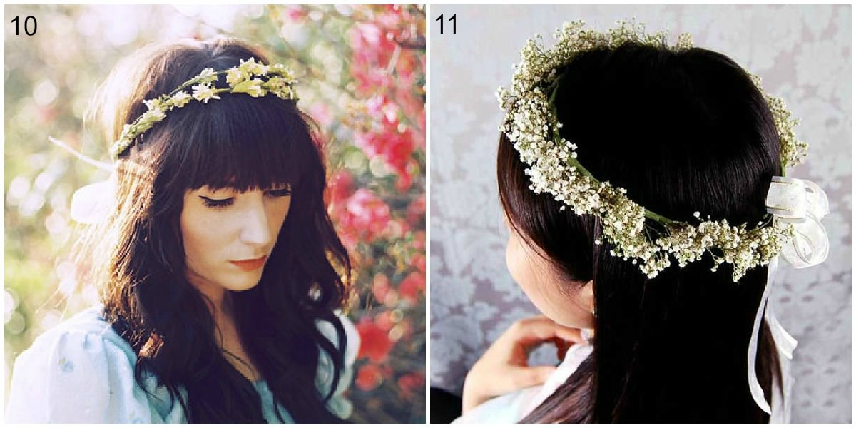 small and dainty flower crowns