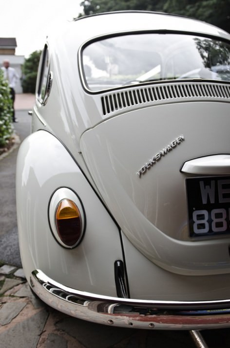 white VW beatle
