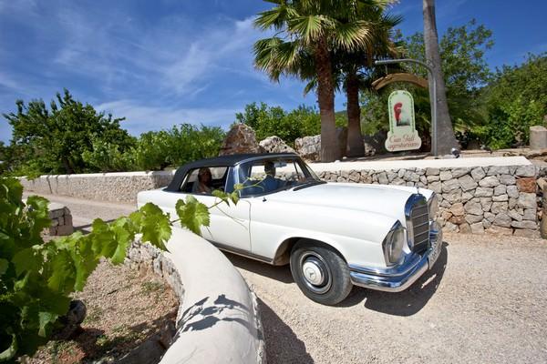 Ibiza bride in white vintage wedding dress