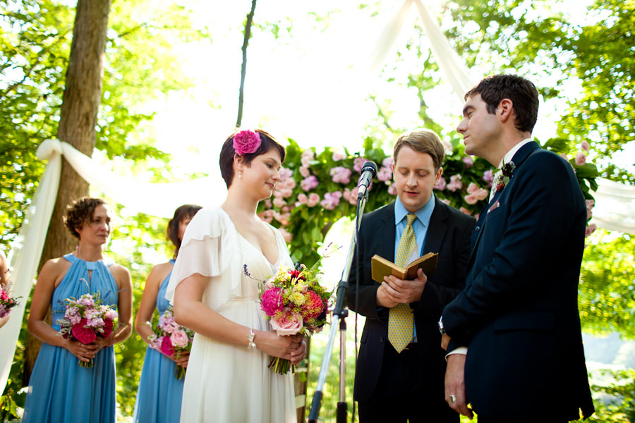outdoor Ohio wedding ceremony