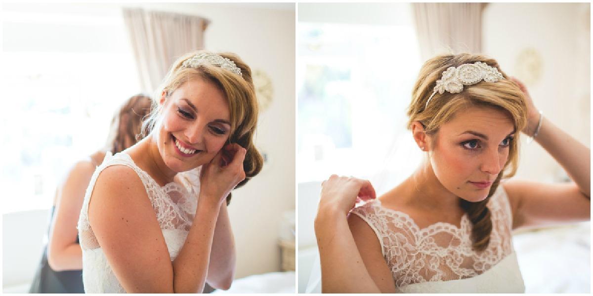 Sheffield bride getting ready