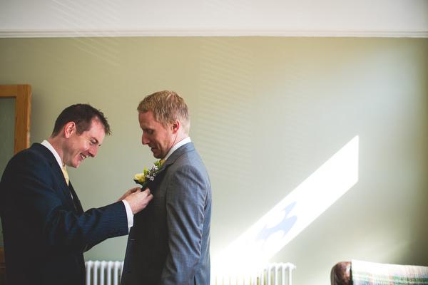 Sheffield groom getting ready