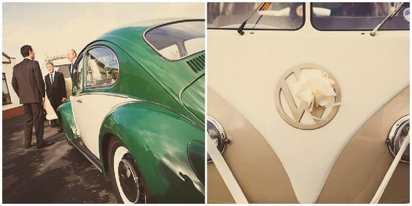wedding VW beatle and VW camper van