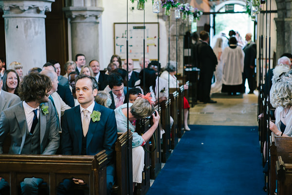 wedding ceremony at St Johns Church, Carlton-in-Lindrick, Nottinghamshire