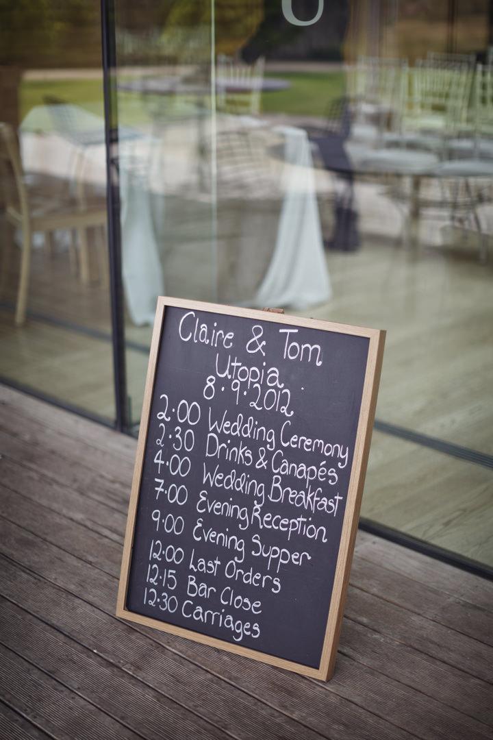 order of the day written on a backboard