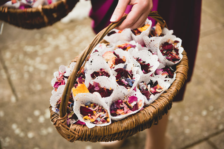 confetti cones in a basket