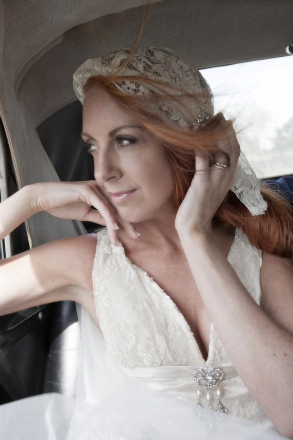 Ibiza bride in wedding car