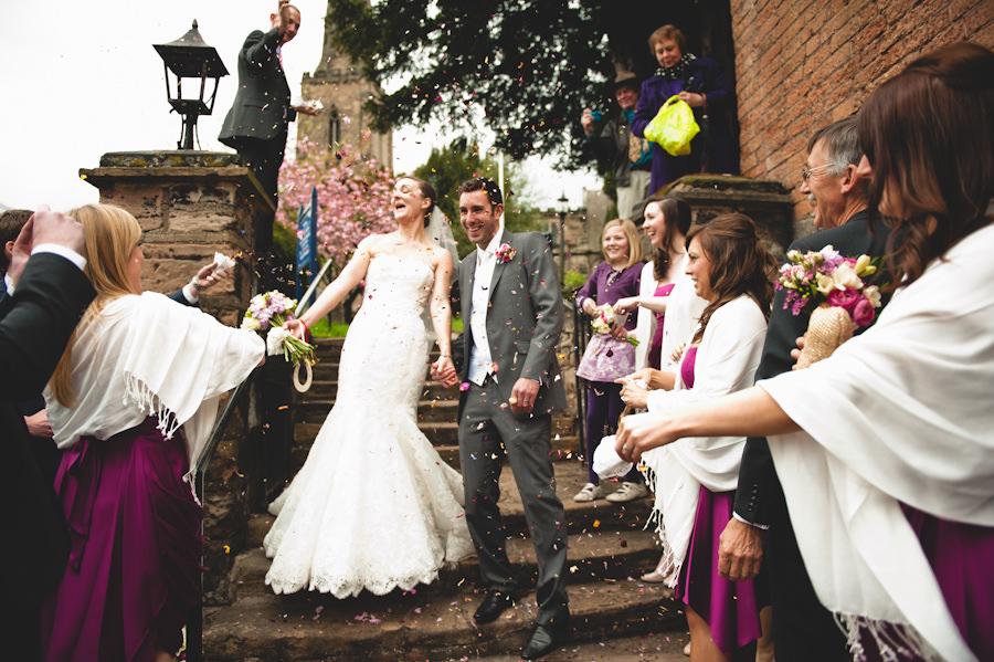 confetti shot Nottingham wedding