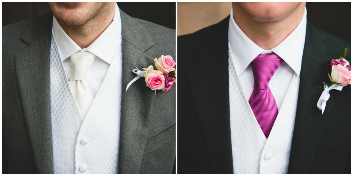 grooms men ties and button holes