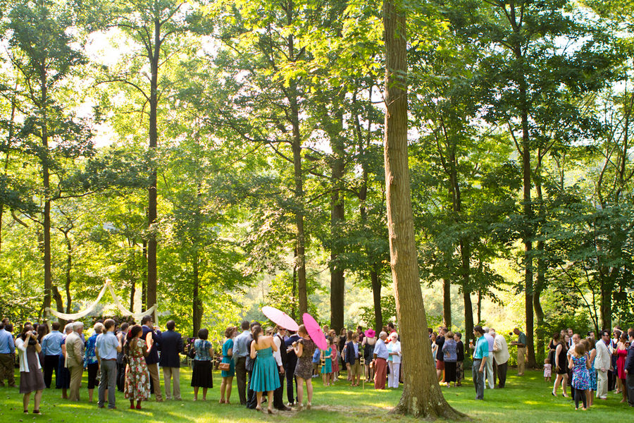 outdoor Ohio wedding reception