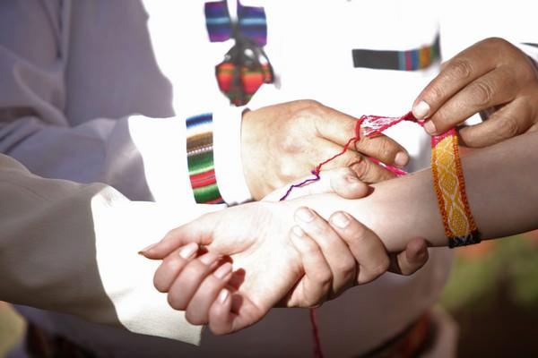 Traditional Andean wedding ceremony