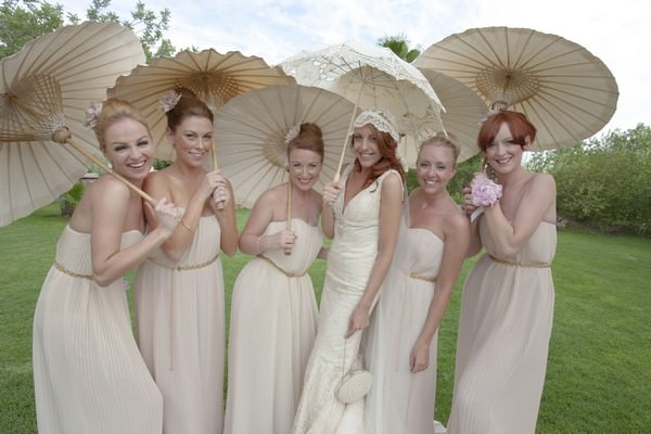 Ibiza bride and bridesmaids