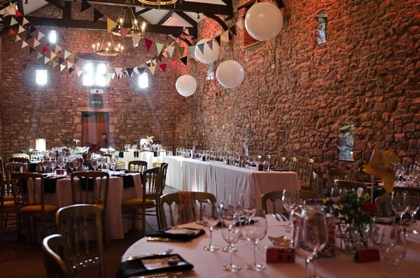 Browsholme Hall Tithe Barn wedding reception