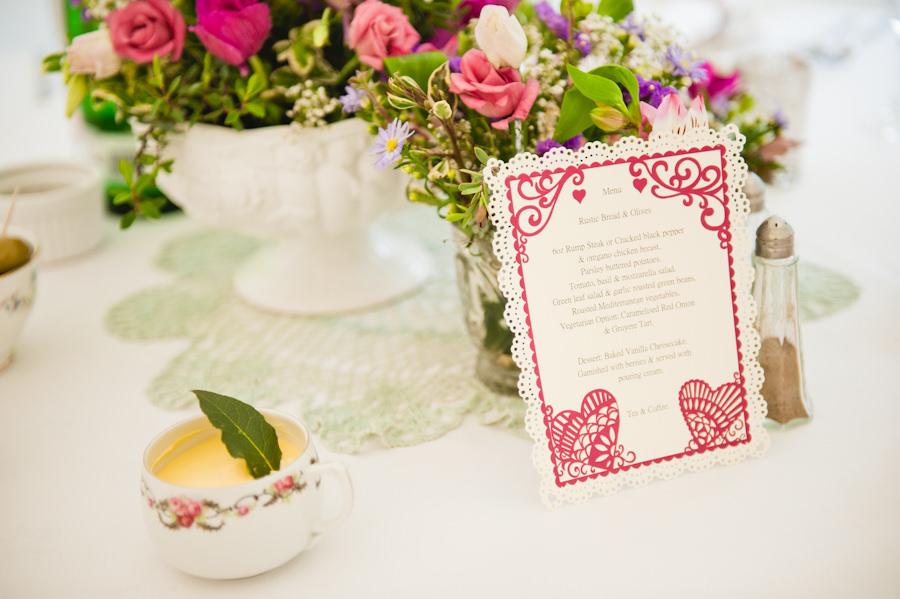 wedding breakfast menu