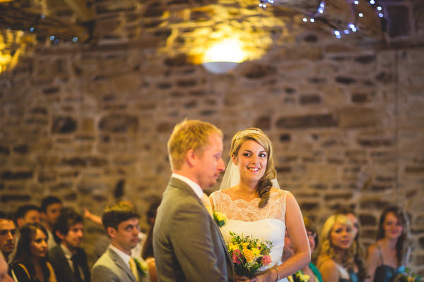 rustic Sheffield wedding ceremony