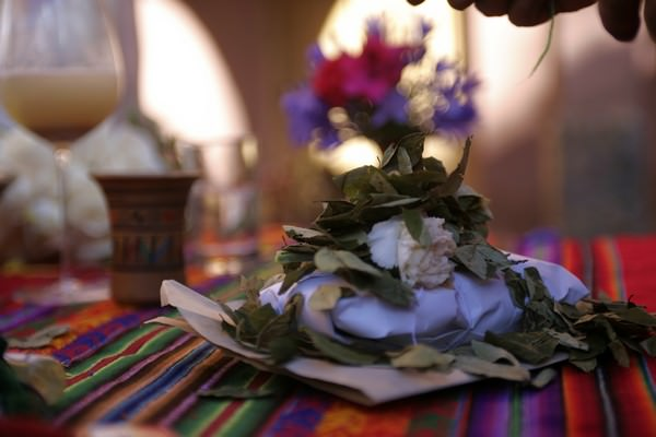 Traditional Andean wedding ceremony
