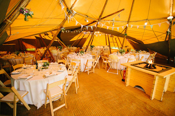 Tipi wedding reception