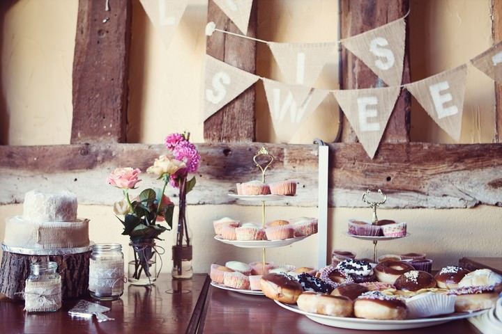 cake table at DIY wedding
