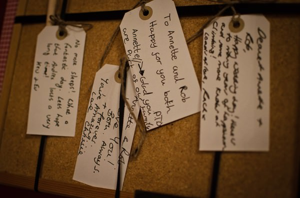 wish tags at a Lancashire wedding