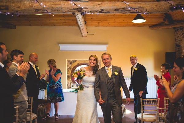 rustic Sheffield wedding ceremony