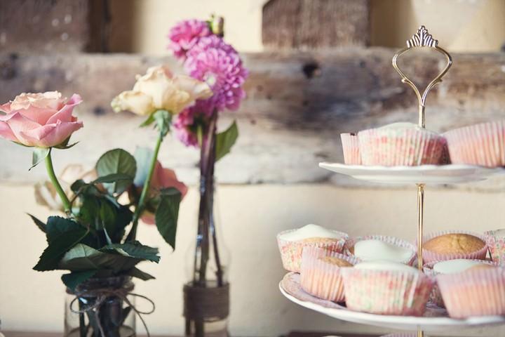 cake table at DIY wedding