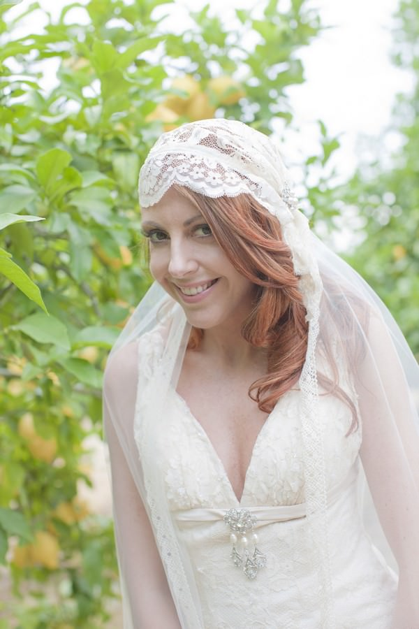 Ibiza bride in a Charlotte Balbier wedding dress