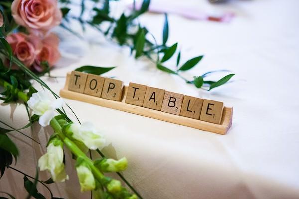 Scrabble Themed Wedding
