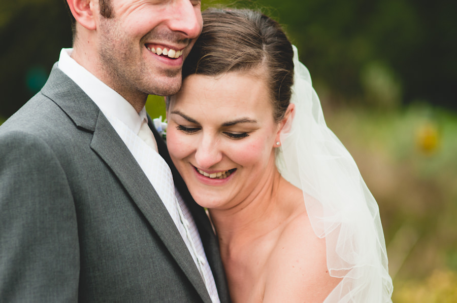 bride and groom at a Nottingham wedding