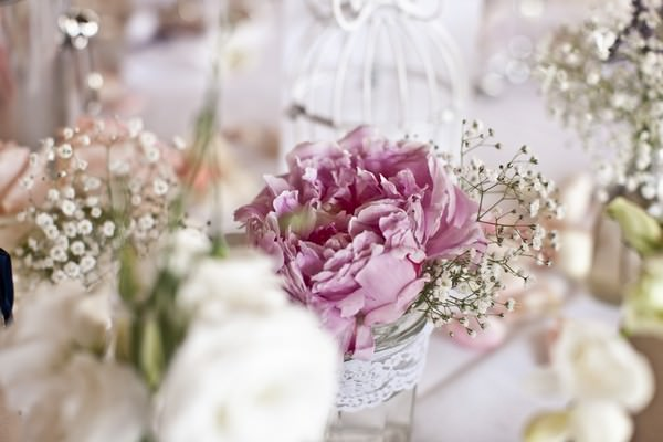 vintage wedding flowers at an Ibiza wedding