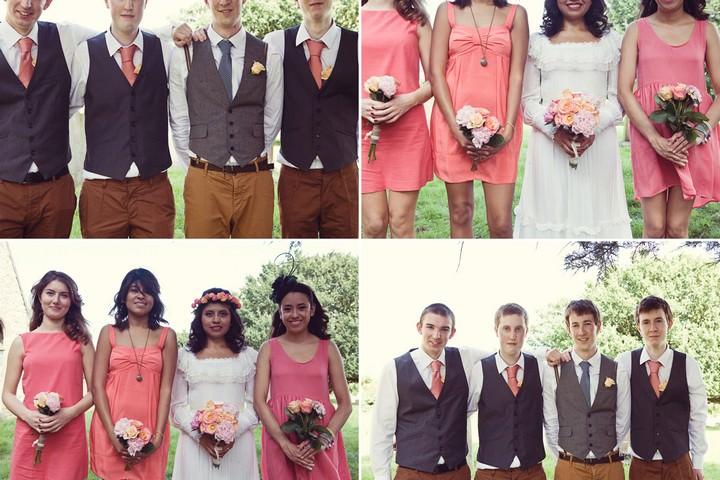 group shots at DIY wedding