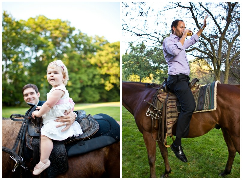 pony ride at a wedding