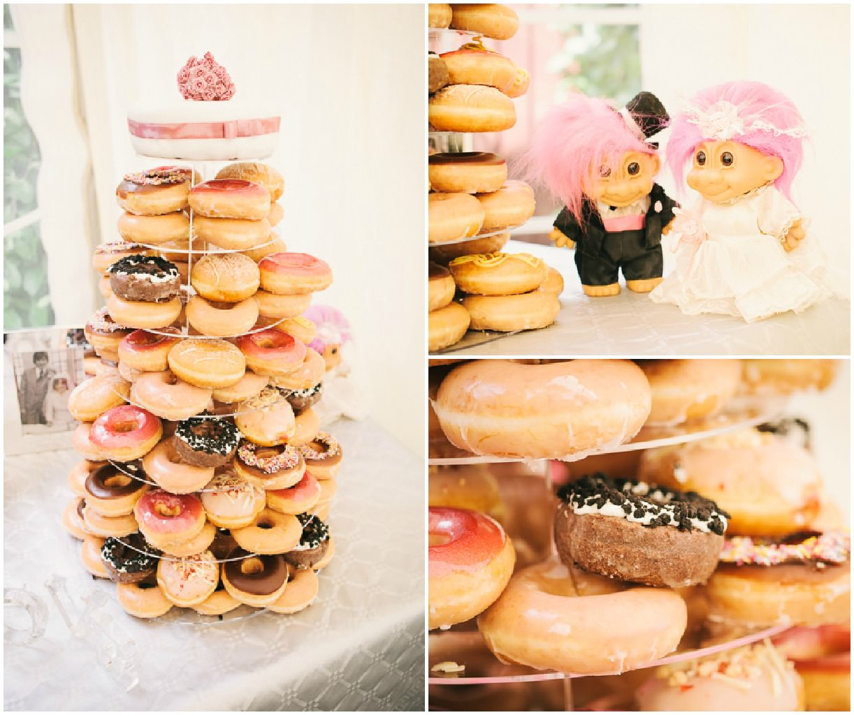 Krispy Kreme tower wedding cake
